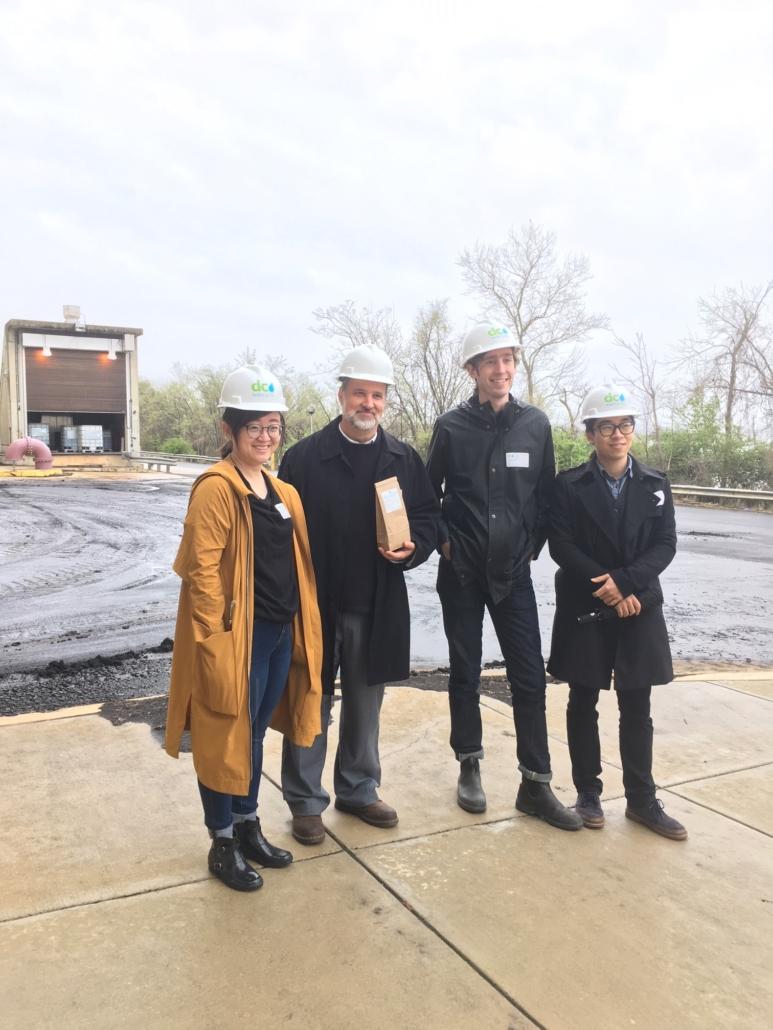 Staff from Landscape Architects Bureau on a Blue Plains Tour