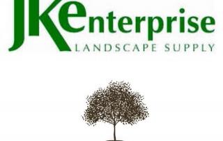 JK Enterprise Landscape Supply logo and Grant County Mulch logo